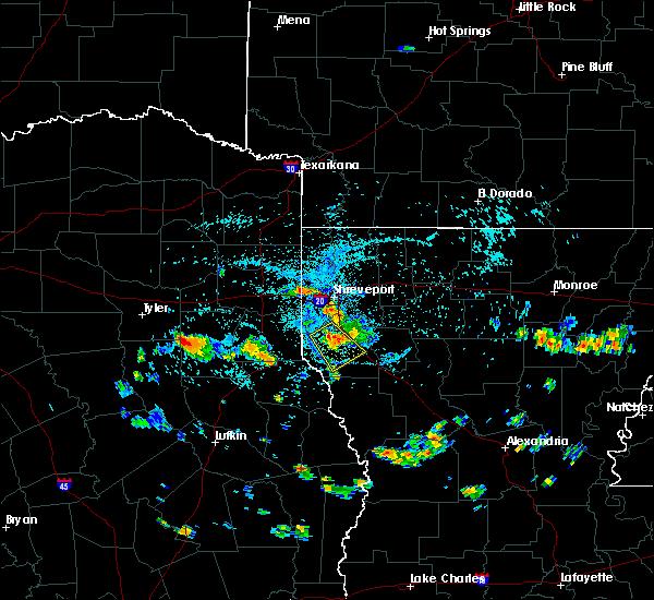 Radar Image for Severe Thunderstorms near Henderson, TX at 6/29/2015 5:02 PM CDT