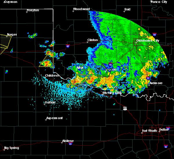 Radar Image for Severe Thunderstorms near Vernon, TX at 6/19/2020 4:46 PM CDT
