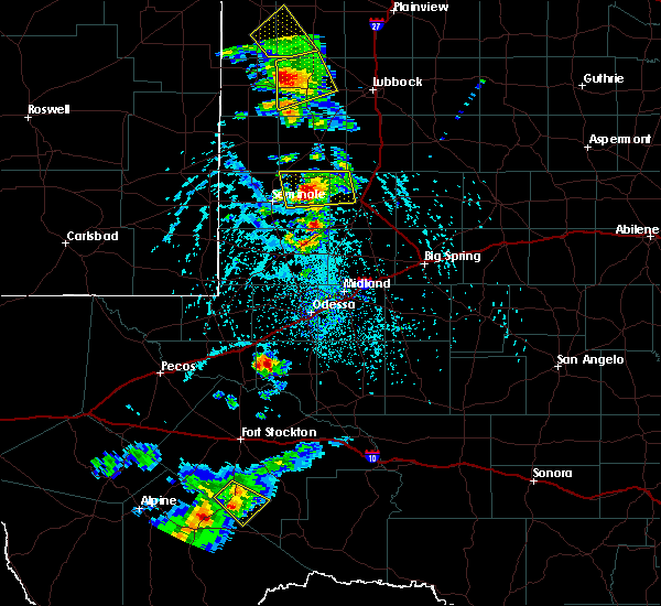 Radar Image for Severe Thunderstorms near Welch, TX at 6/19/2020 4:48 PM CDT