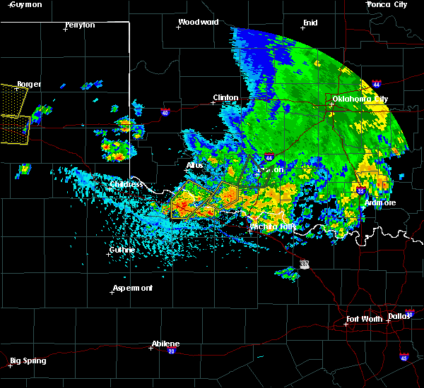 Radar Image for Severe Thunderstorms near Vernon, TX at 6/19/2020 5:08 PM CDT