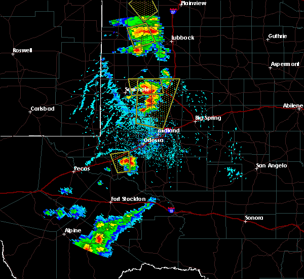 Radar Image for Severe Thunderstorms near Odessa, TX at 6/19/2020 5:13 PM CDT