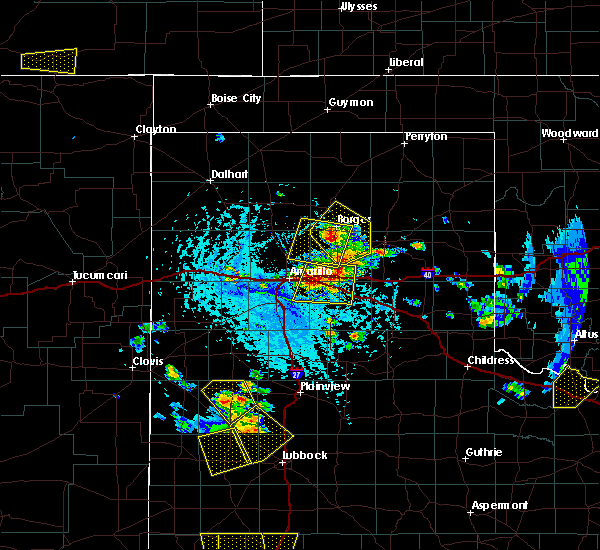 Radar Image for Severe Thunderstorms near Panhandle, TX at 6/19/2020 5:15 PM CDT
