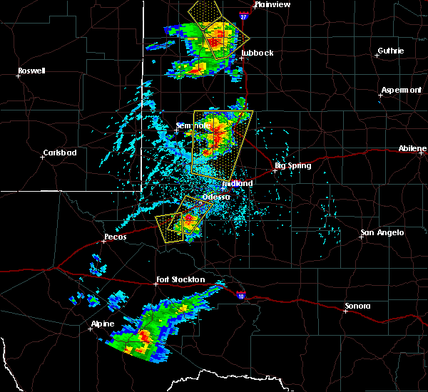 Radar Image for Severe Thunderstorms near Odessa, TX at 6/19/2020 5:22 PM CDT