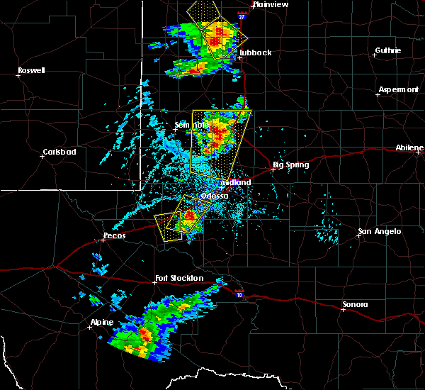 Radar Image for Severe Thunderstorms near Los Ybanez, TX at 6/19/2020 5:27 PM CDT