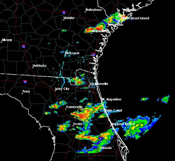 Radar Image for Severe Thunderstorms near Interlachen, FL at 6/19/2020 6:28 PM EDT