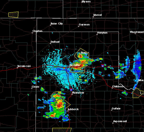 Radar Image for Severe Thunderstorms near Panhandle, TX at 6/19/2020 5:28 PM CDT