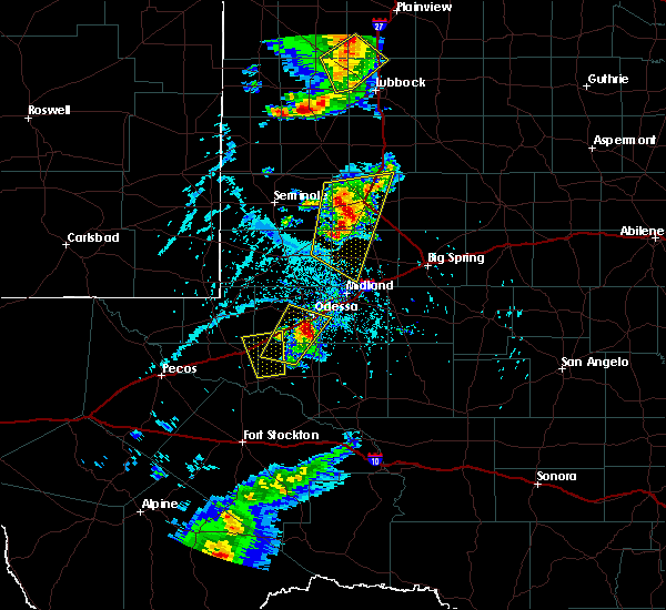 Radar Image for Severe Thunderstorms near Odessa, TX at 6/19/2020 5:38 PM CDT