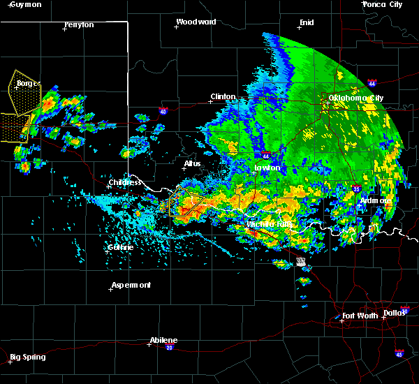 Radar Image for Severe Thunderstorms near Electra, TX at 6/19/2020 5:39 PM CDT