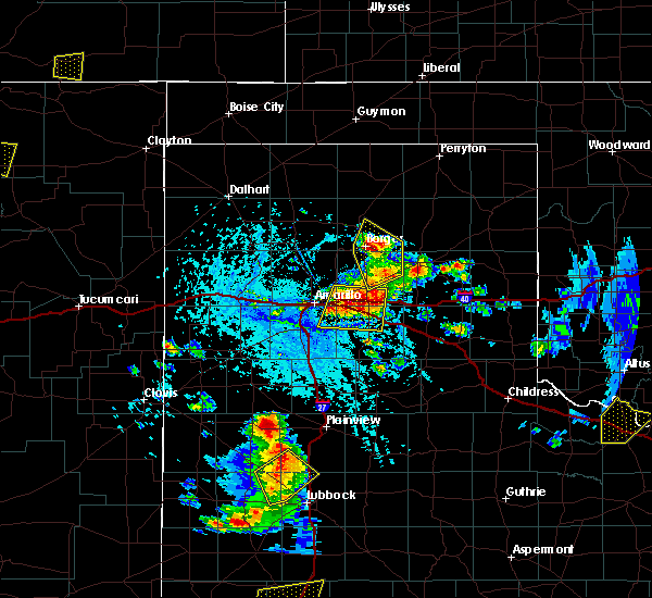 Radar Image for Severe Thunderstorms near Panhandle, TX at 6/19/2020 5:47 PM CDT