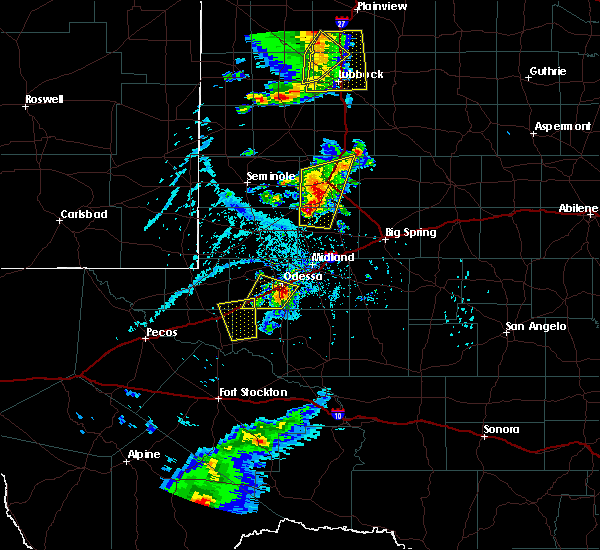 Radar Image for Severe Thunderstorms near Odessa, TX at 6/19/2020 5:47 PM CDT