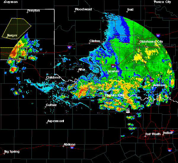 Radar Image for Severe Thunderstorms near Electra, TX at 6/19/2020 5:57 PM CDT
