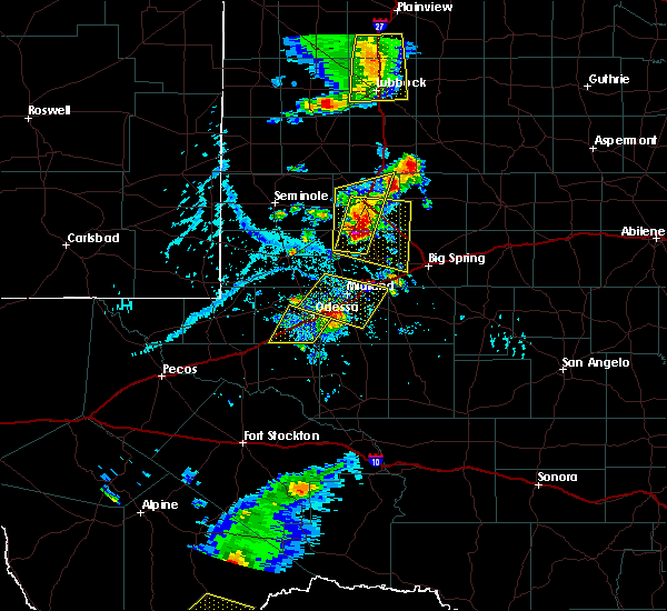 Radar Image for Severe Thunderstorms near Odessa, TX at 6/19/2020 6:03 PM CDT