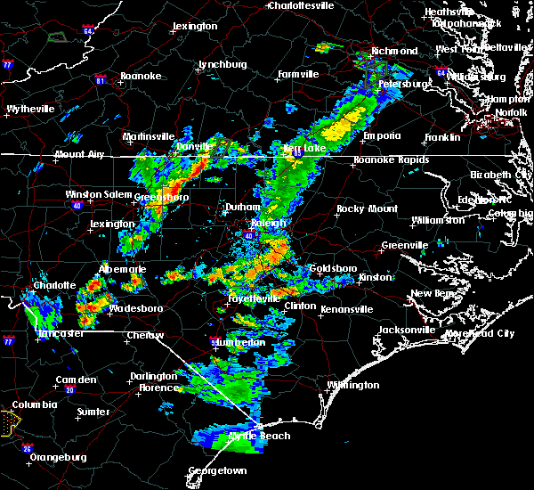 Radar Image for Severe Thunderstorms near Badin, NC at 6/19/2020 7:16 PM EDT