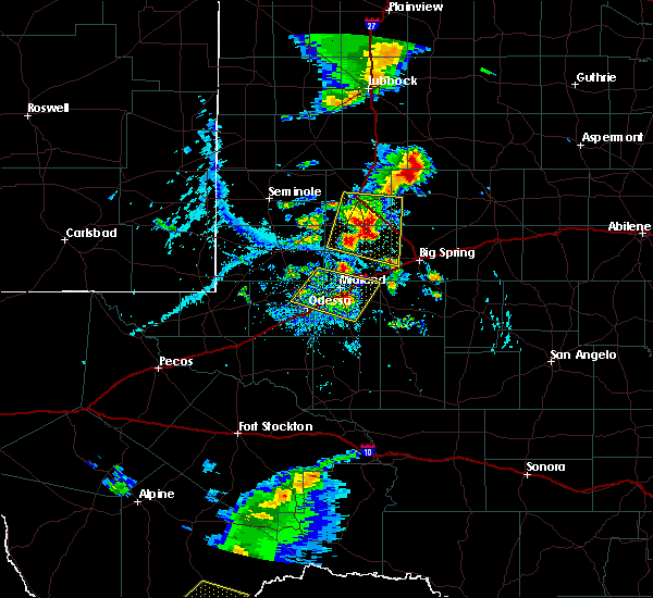 Radar Image for Severe Thunderstorms near Odessa, TX at 6/19/2020 6:21 PM CDT