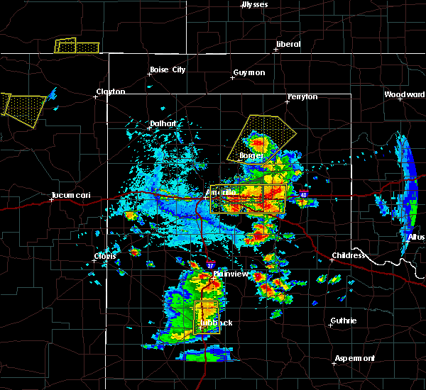 Radar Image for Severe Thunderstorms near Panhandle, TX at 6/19/2020 6:30 PM CDT
