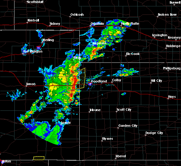 Radar Image for Severe Thunderstorms near Kanorado, KS at 6/19/2020 5:49 PM MDT