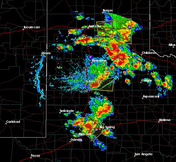 Radar Image for Severe Thunderstorms near Roaring Springs, TX at 6/19/2020 7:09 PM CDT