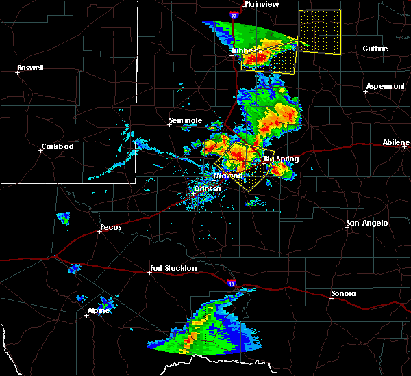 Radar Image for Severe Thunderstorms near Gail, TX at 6/19/2020 7:18 PM CDT