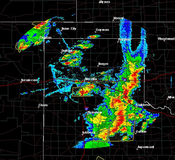 Radar Image for Severe Thunderstorms near Keyes, OK at 6/19/2020 7:39 PM CDT