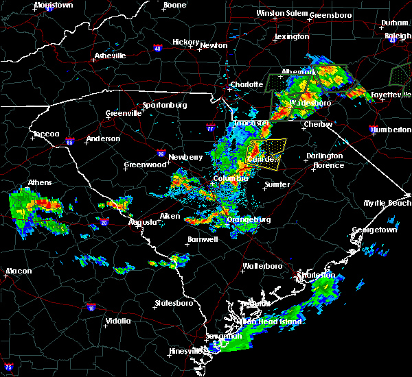 Radar Image for Severe Thunderstorms near McBee, SC at 6/19/2020 8:45 PM EDT
