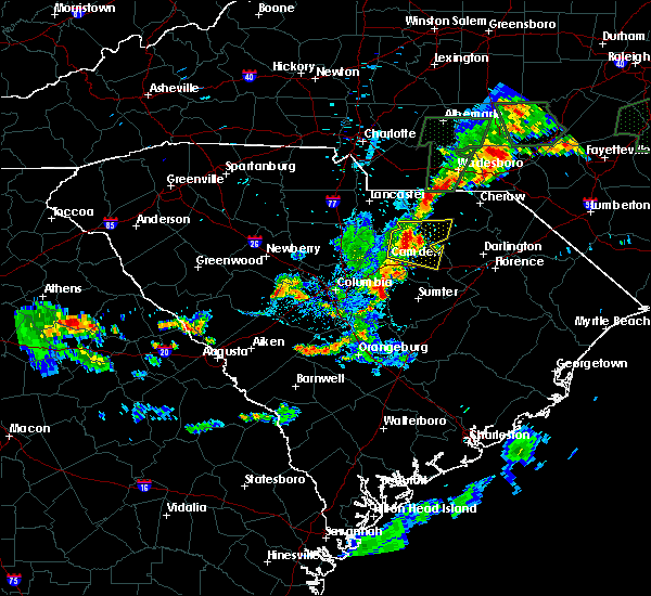 Radar Image for Severe Thunderstorms near McBee, SC at 6/19/2020 8:58 PM EDT