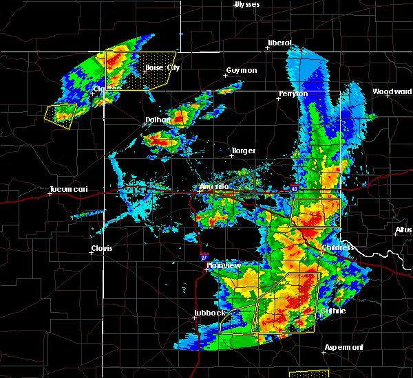 Radar Image for Severe Thunderstorms near Keyes, OK at 6/19/2020 8:00 PM CDT