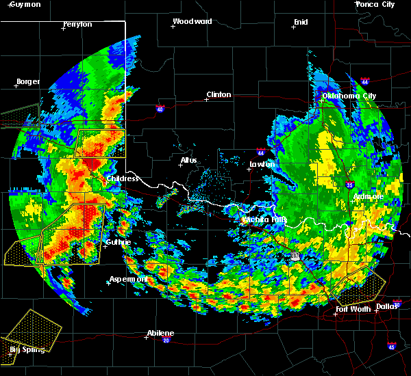 Radar Image for Severe Thunderstorms near Guthrie, TX at 6/19/2020 8:01 PM CDT