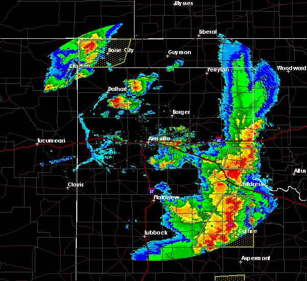 Radar Image for Severe Thunderstorms near Keyes, OK at 6/19/2020 8:09 PM CDT