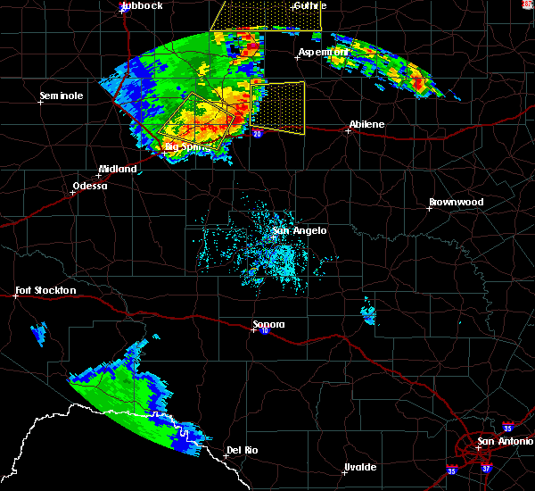 Radar Image for Severe Thunderstorms near Roscoe, TX at 6/19/2020 8:11 PM CDT
