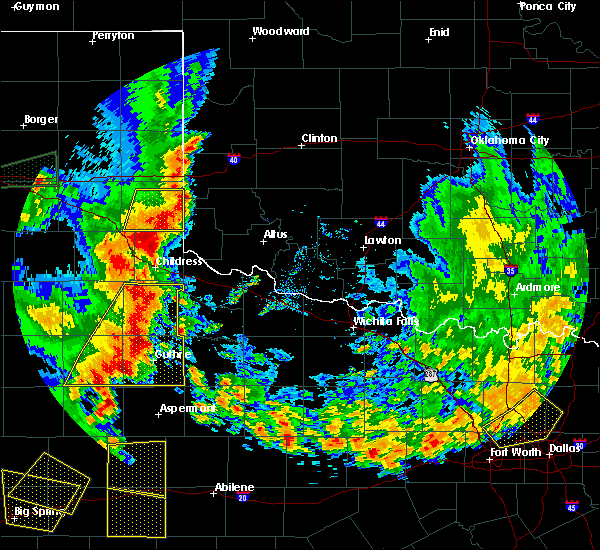 Radar Image for Severe Thunderstorms near Guthrie, TX at 6/19/2020 8:17 PM CDT