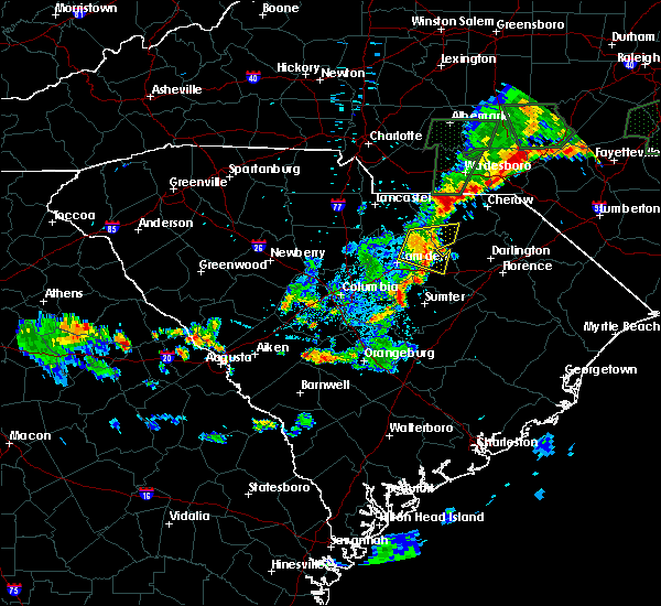 Radar Image for Severe Thunderstorms near McBee, SC at 6/19/2020 9:19 PM EDT