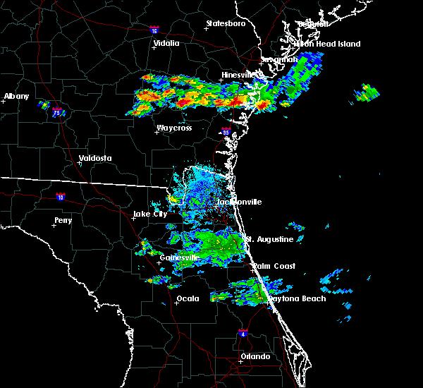 Radar Image for Severe Thunderstorms near Screven, GA at 6/19/2020 9:22 PM EDT