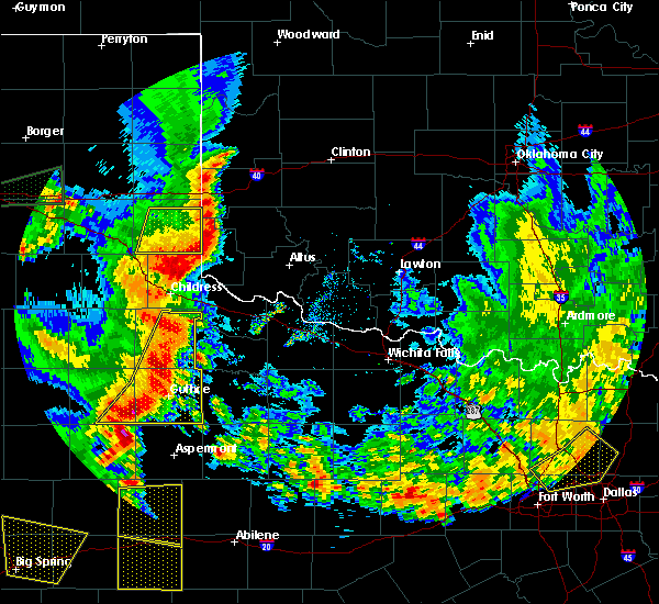 Radar Image for Severe Thunderstorms near Hollis, OK at 6/19/2020 8:31 PM CDT