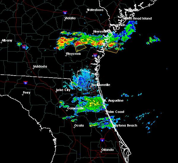 Radar Image for Severe Thunderstorms near Screven, GA at 6/19/2020 9:33 PM EDT