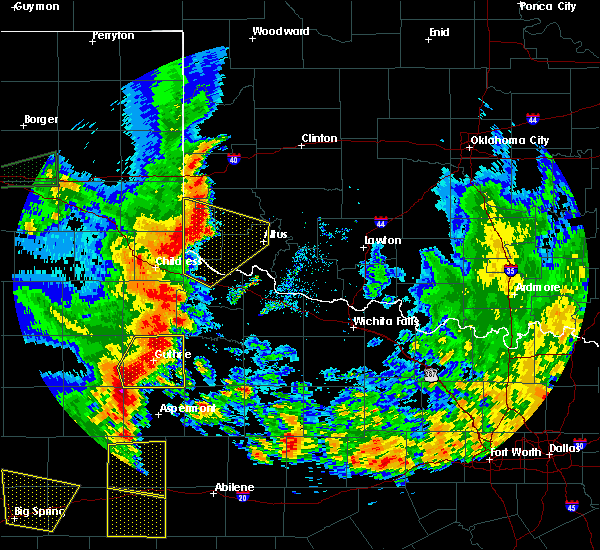 Radar Image for Severe Thunderstorms near Benjamin, TX at 6/19/2020 8:34 PM CDT