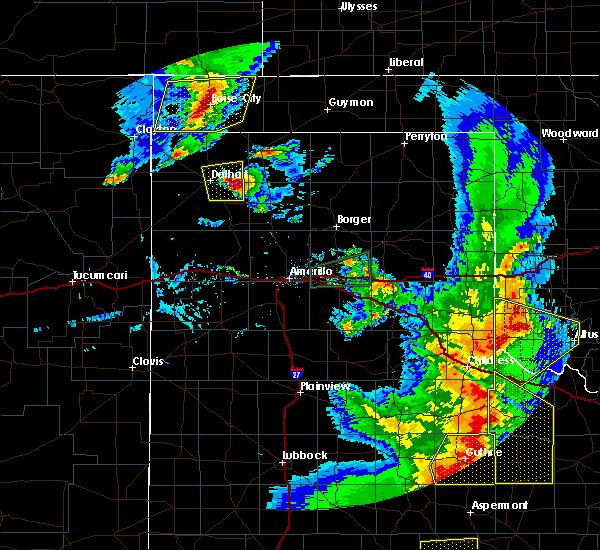 Radar Image for Severe Thunderstorms near Keyes, OK at 6/19/2020 8:37 PM CDT