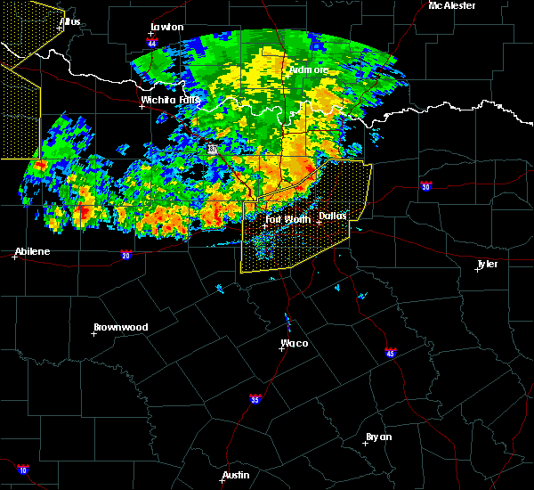 Radar Image for Severe Thunderstorms near Cleburne, TX at 6/19/2020 8:38 PM CDT