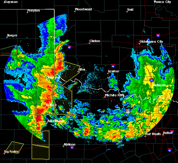 Radar Image for Severe Thunderstorms near Guthrie, TX at 6/19/2020 8:40 PM CDT