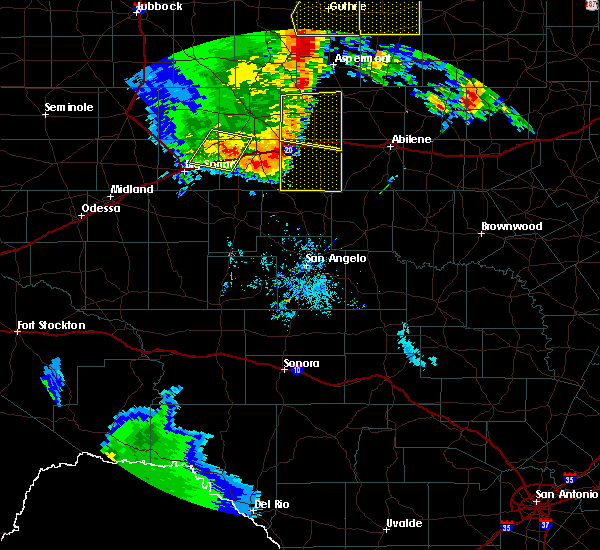 Radar Image for Severe Thunderstorms near Roscoe, TX at 6/19/2020 8:41 PM CDT