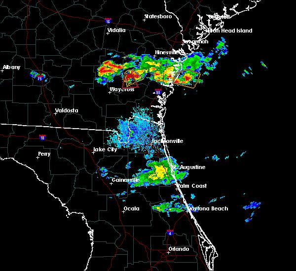 Radar Image for Severe Thunderstorms near Screven, GA at 6/19/2020 9:48 PM EDT