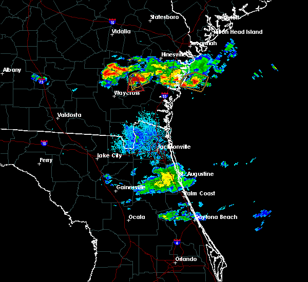 Radar Image for Severe Thunderstorms near Offerman, GA at 6/19/2020 9:48 PM EDT