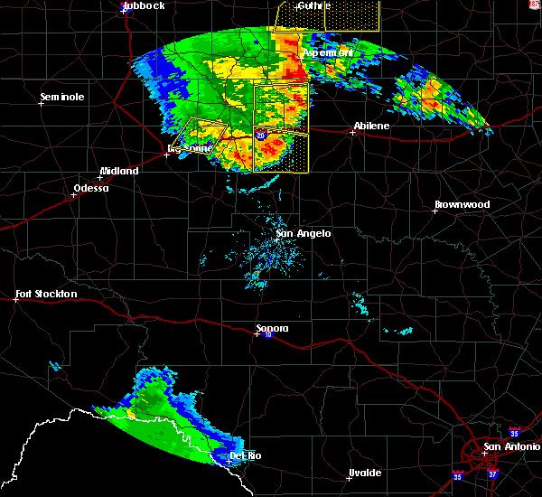 Radar Image for Severe Thunderstorms near Roscoe, TX at 6/19/2020 8:57 PM CDT