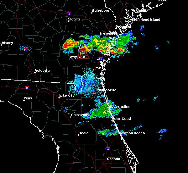 Radar Image for Severe Thunderstorms near Offerman, GA at 6/19/2020 9:58 PM EDT