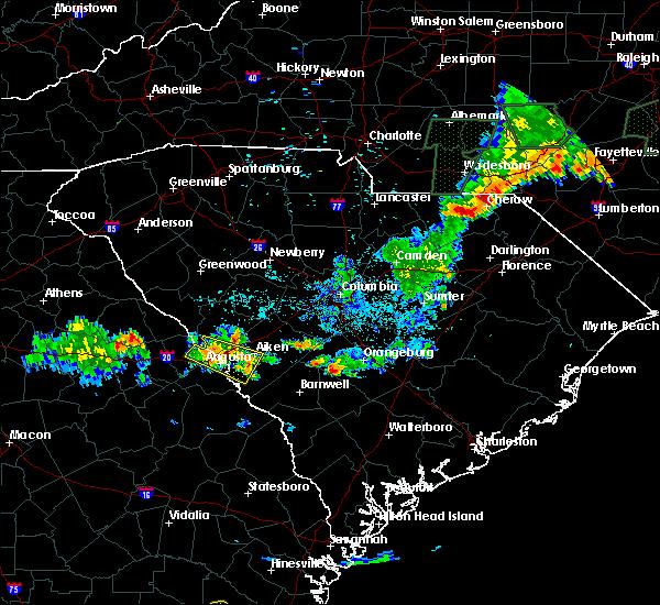 Radar Image for Severe Thunderstorms near Martinez, GA at 6/19/2020 10:02 PM EDT