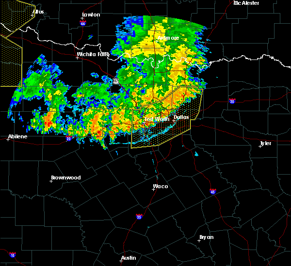 Radar Image for Severe Thunderstorms near Cleburne, TX at 6/19/2020 9:04 PM CDT