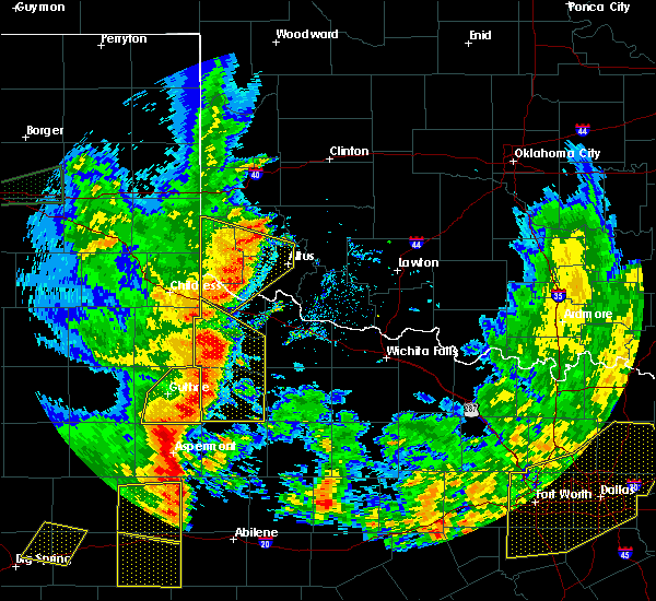 Radar Image for Severe Thunderstorms near Benjamin, TX at 6/19/2020 9:10 PM CDT