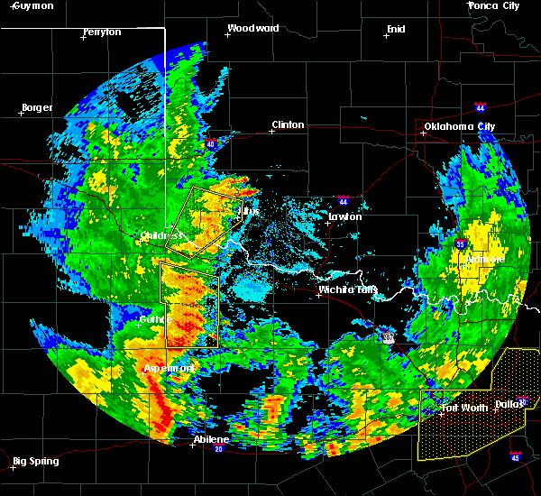 Radar Image for Severe Thunderstorms near Altus, OK at 6/19/2020 9:23 PM CDT
