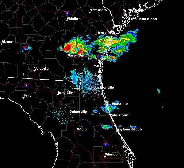 Radar Image for Severe Thunderstorms near Nahunta, GA at 6/19/2020 10:30 PM EDT