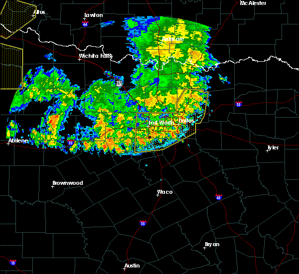 Radar Image for Severe Thunderstorms near Cleburne, TX at 6/19/2020 9:29 PM CDT