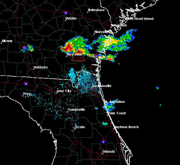 Radar Image for Severe Thunderstorms near Nahunta, GA at 6/19/2020 10:54 PM EDT